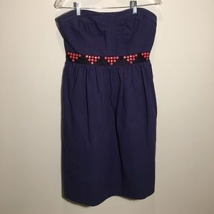 Anthropologie Strapless Dress with Pockets